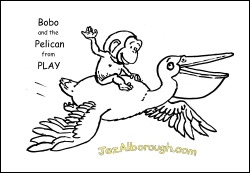 Bobo Pelican colour-in