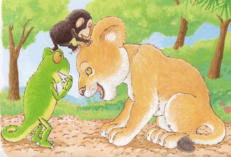 Tall - Bobo Climbs on Lion