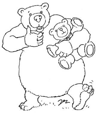 Bear Colour-In